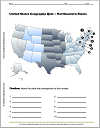 Northeastern United States Map Identification Worksheet