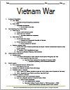 Vietnam War Printable Outline