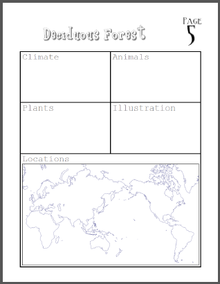 """My Book about Biomes"" Project - Complete instructions and rubric (PDF file)."