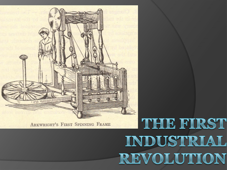 First Industrial Revolution Powerpoint Presentation for High School with Guided Student Notes