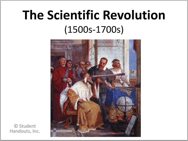 scientific revolution powerpoint presentation with guided student notes for high school world history students