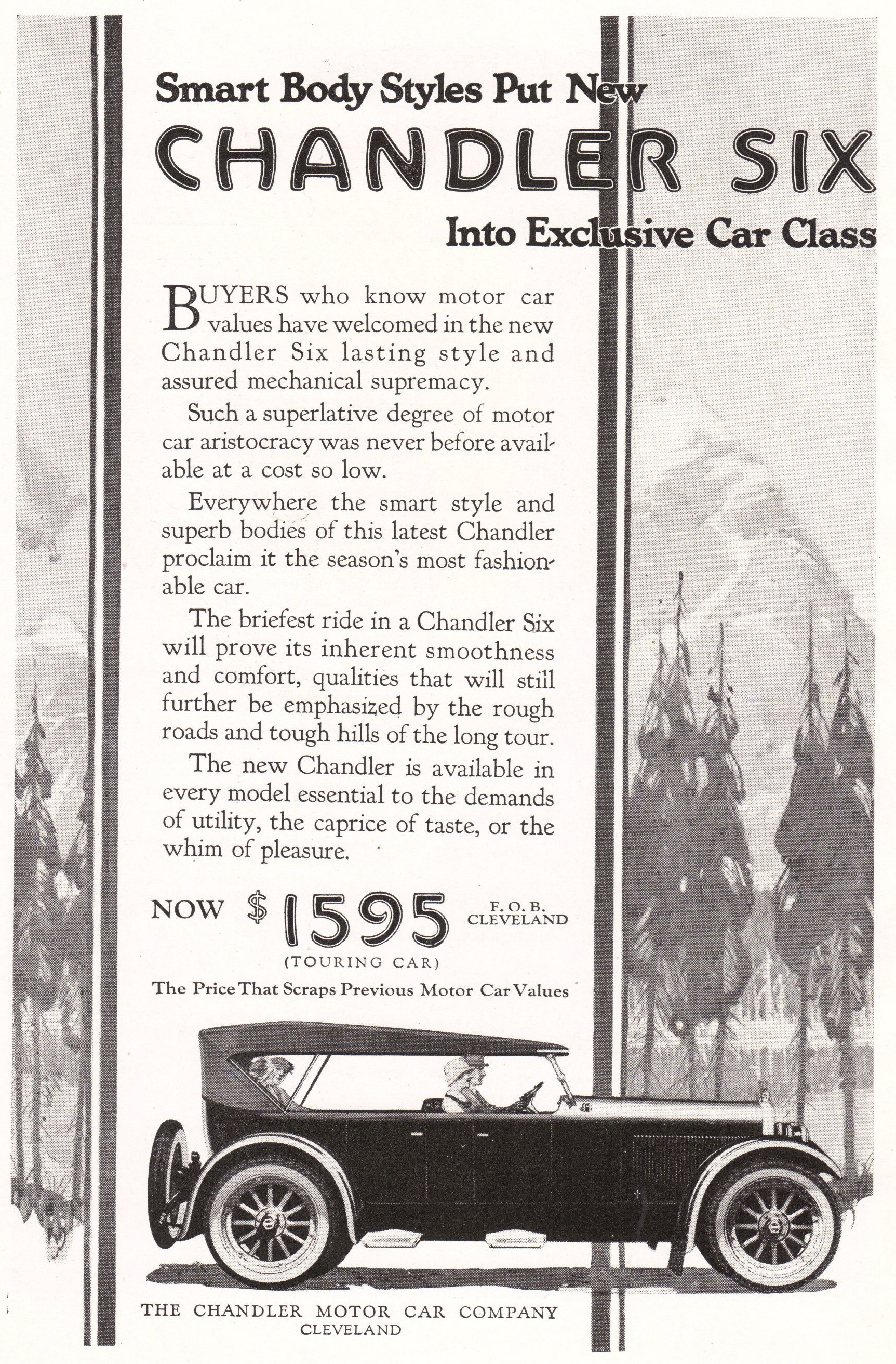 Chandler Motor Car Company, Ad, 1922 | Student Handouts