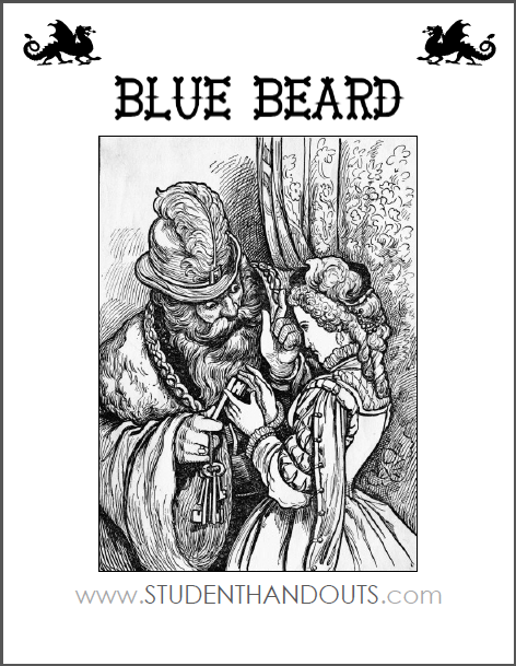 Blue Beard by the Brothers Grimm - Free printable eBook and worksheets (PDF files).