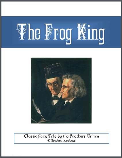 The Frog King Fairy Tale Workbook - Free to print (PDF file, nine pages in length).