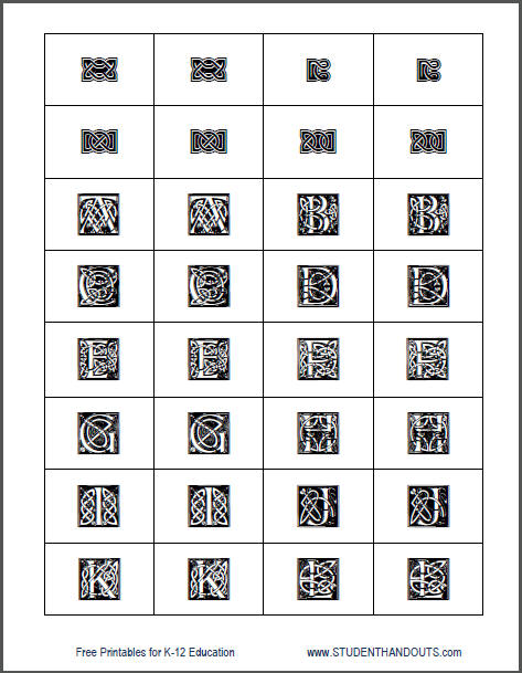 Celtic Irish Memory Style Game - Free Printable Cards for Kids