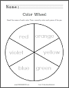Color Wheel Coloring Sheet