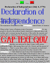 Declaration of Independence (1776) First Paragraph Gap Text Quiz Game