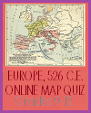 Interactive Map Quiz of the Germanic Kingdoms and Eastern Roman Empire in 526 C.E.