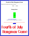 Fourth of July Interactive Hangman Game