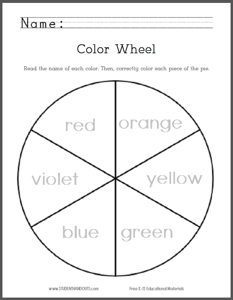 Vibrant image within printable color wheel pdf