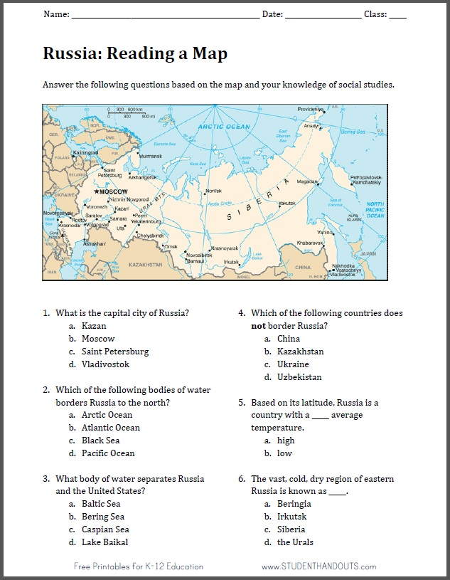 Russian Geography Map Reading Worksheet: Reading A Map Worksheet At Alzheimers-prions.com