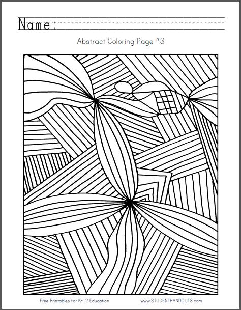 Design Coloring Page No. 1 - Free to print (PDF file).