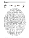 Easter Egg Puzzle Maze
