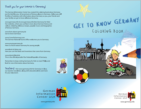 Germany Coloring Book for Kids - Free to print (PDF file).