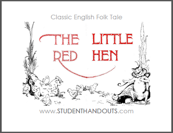 The Little Red Hen eBook with Worksheets - Free to print (PDF files).