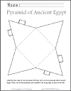 DIY AMake Your Own ncient Egyptian Pyramid Cut-out Template
