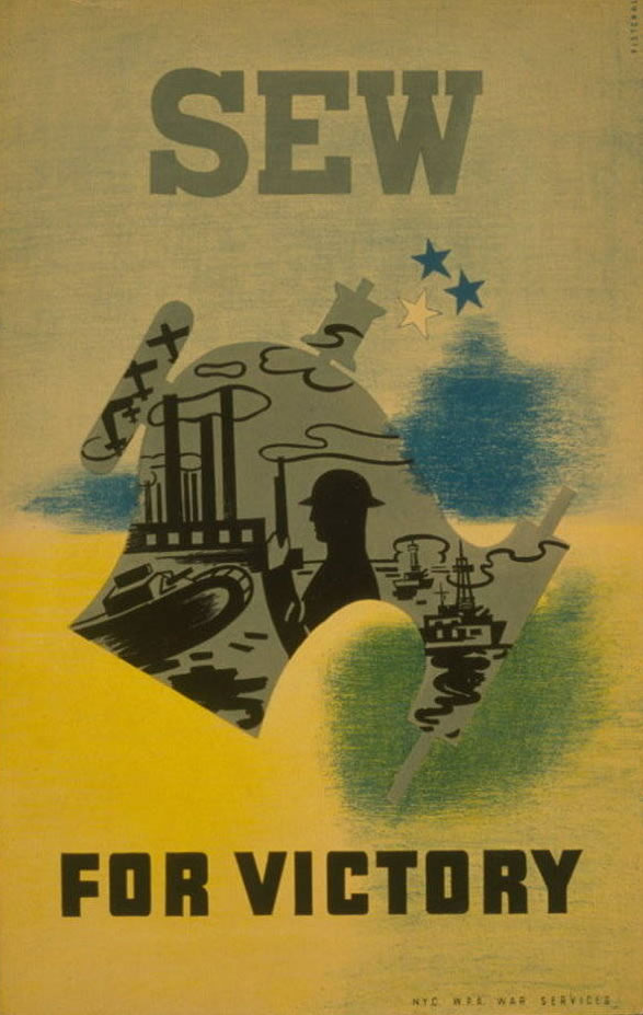 """""""Sew for Victory"""" World War II WPA  Poster"""