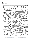 Summer Is Here Abstract Coloring Page