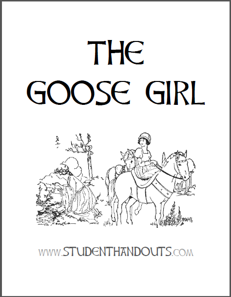 """The Goose Girl"" Fairy Tale eBook with Worksheets - Free to print (PDF files)."