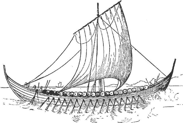 Medieval Viking Longship
