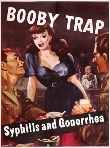Booby Trap - WWII V.D. Poster