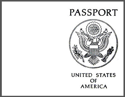 Blank USA Passport Outside Cover