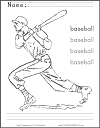 Baseball Batter Coloring Sheet