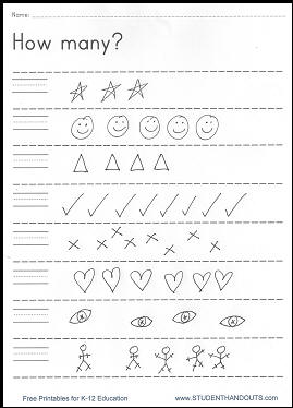 How many? DIY Counting Worksheet - Free to print (PDF file).