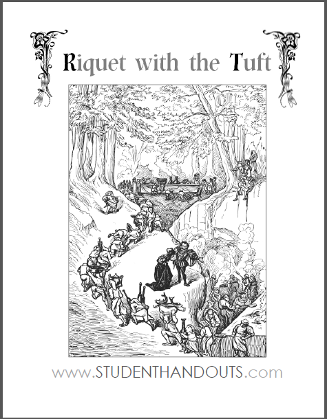 Riquet with the Tuft - eBook with worksheets, free to print (PDF files).