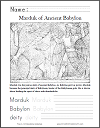 Marduk of Babylon Coloring Page with Writing