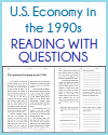 American Economy in the 1990s Reading with Questions