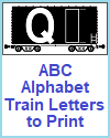 DIY Train Car Letters for Classroom Banners