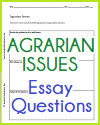Agrarian Issues Writing Exercises