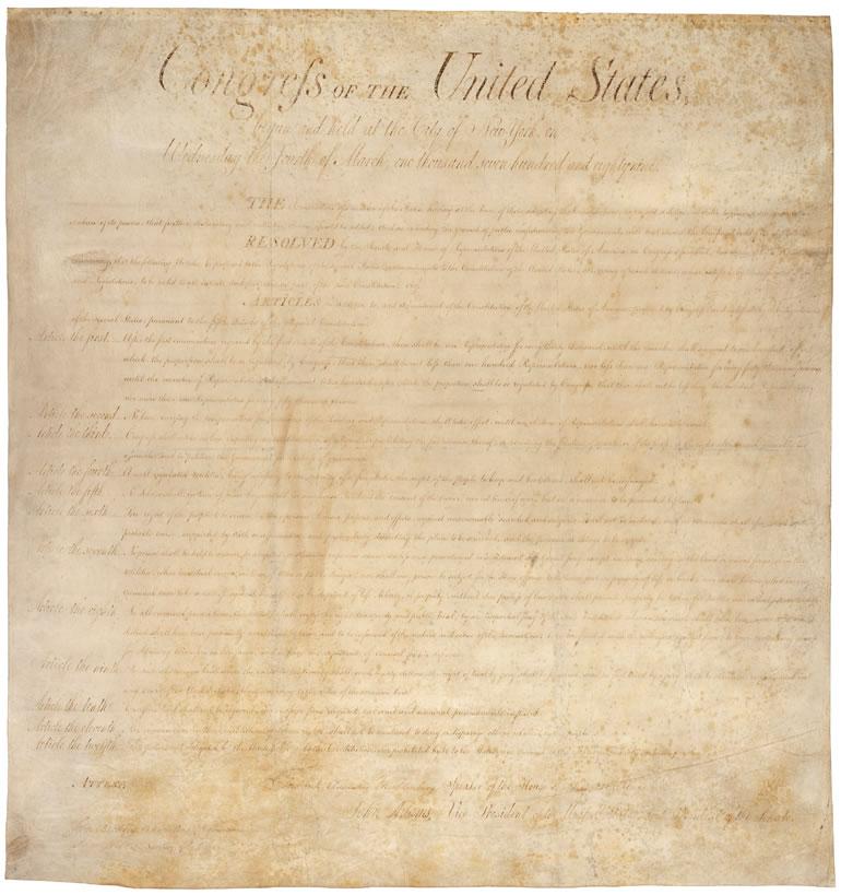 Bill of Rights, 1791