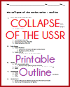 Collapse of the USSR Outline