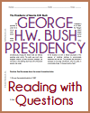 Presidency of George H.W. Bush Reading with Questions