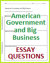 American Government and Big Business Essay Questions