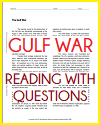 Gulf War Reading with Questions