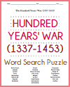 Hundred Years' War Word Search Puzzle