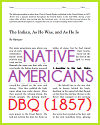 """The Indian: As He Was, and As He Is"" (1857) DBQ"