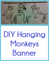 DIY Hanging Monkeys Classroom/Name Banner