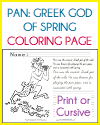 Greek God Pan Coloring Page