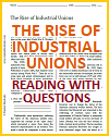 Rise of Industrial Unions Reading with Questions
