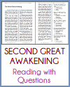 Second Great Awakening Reading with Questions