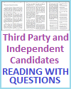 Third Party and Independent Candidates Reading with Questions