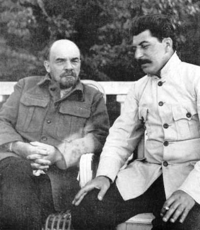 Vladimir Lenin and Joseph Stalin