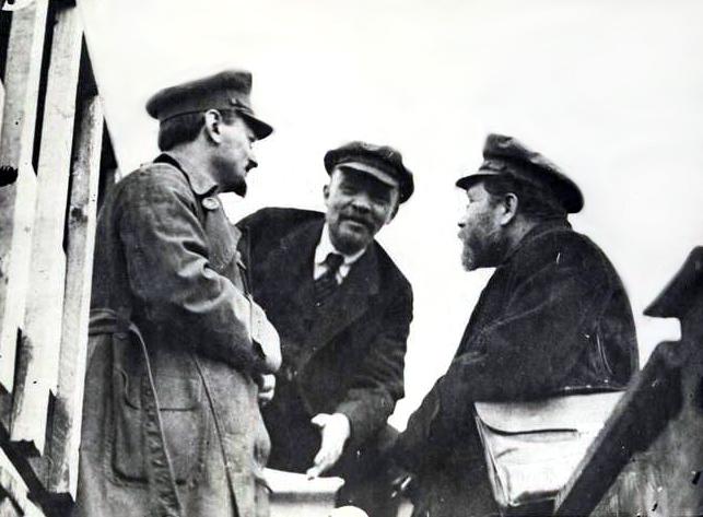Trotsky, Lenin, and Kamenev - 1919 Russian Communist Party Congress