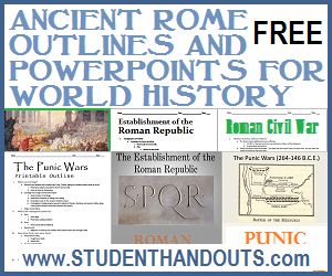 Free Ancient Rome Outlines and PowerPoints for High School World History - Include Guided Student Notes