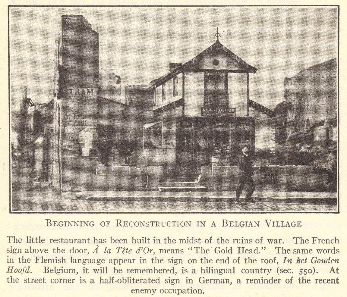 Post-WWI Belgian Village