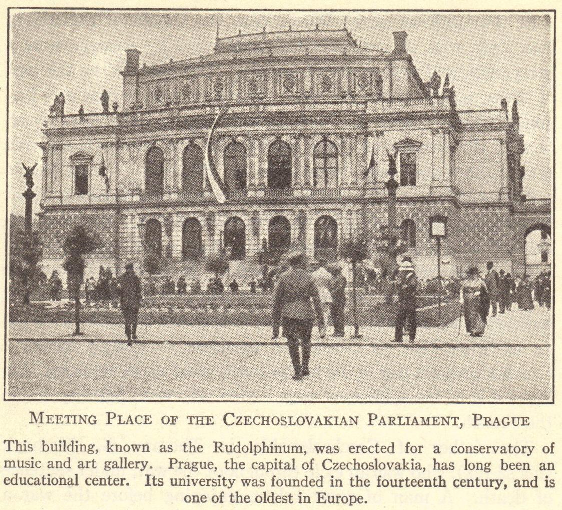 Czechoslovakian Parliament in Prague Following World War I